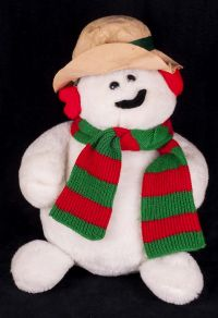 "Animal Fair Snowman 21"" Christmas Plush"